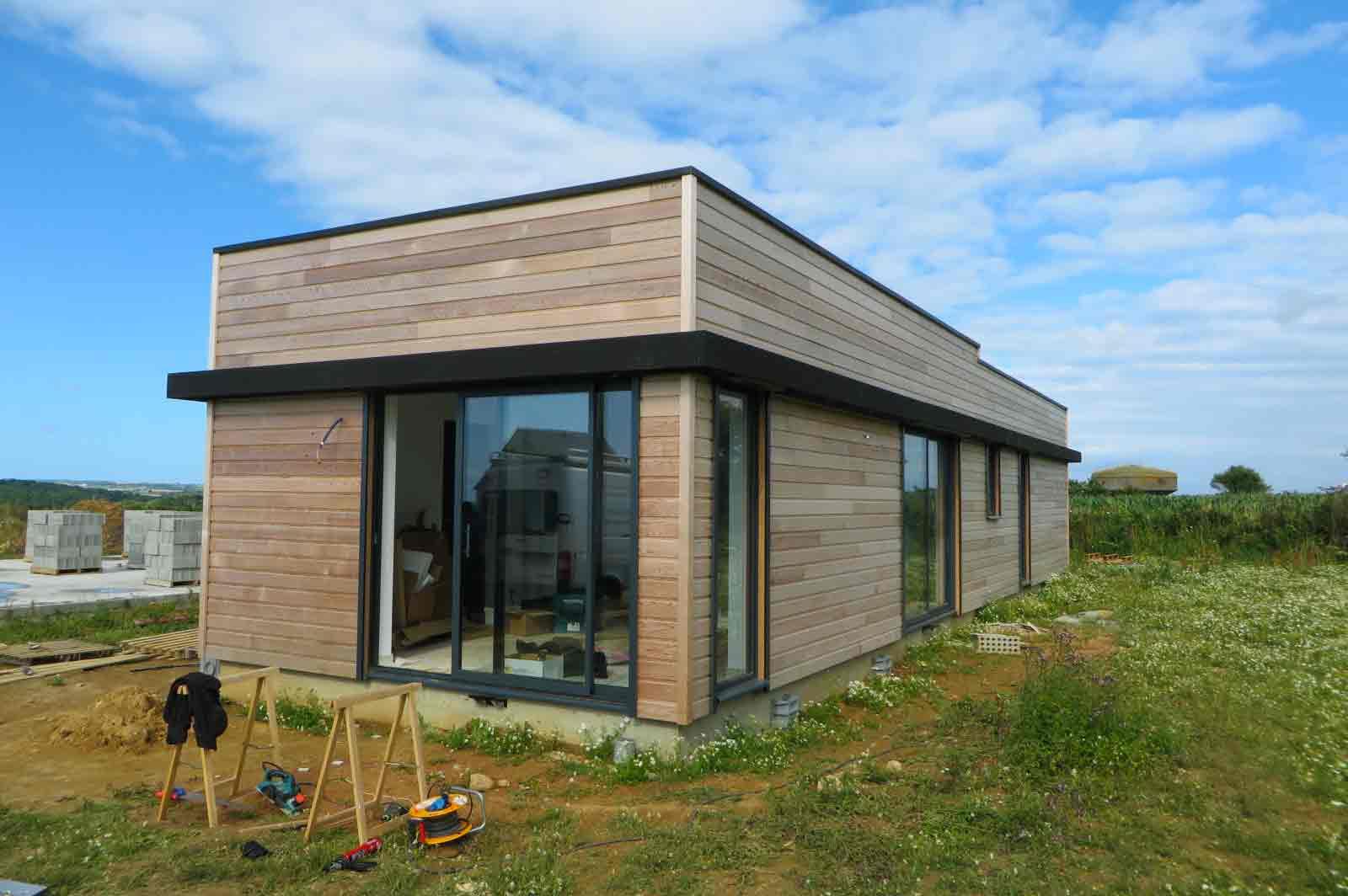 Maison Ossature Bois Finistere - Extension bois Finist u00e8re Landéda Maisons bois Acacia