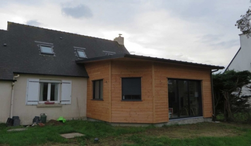 Extension bois Finistère Landeda