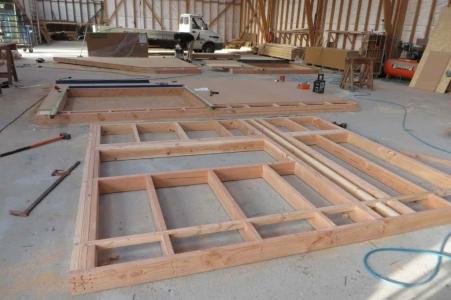 Ossature bois douglas atelier