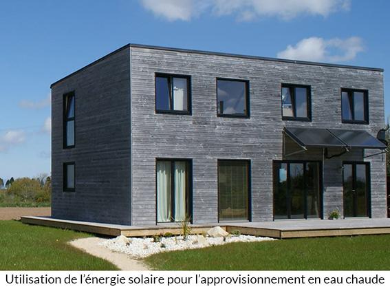Eco habitat maisons bois acacia - Panneau solaire maison ...