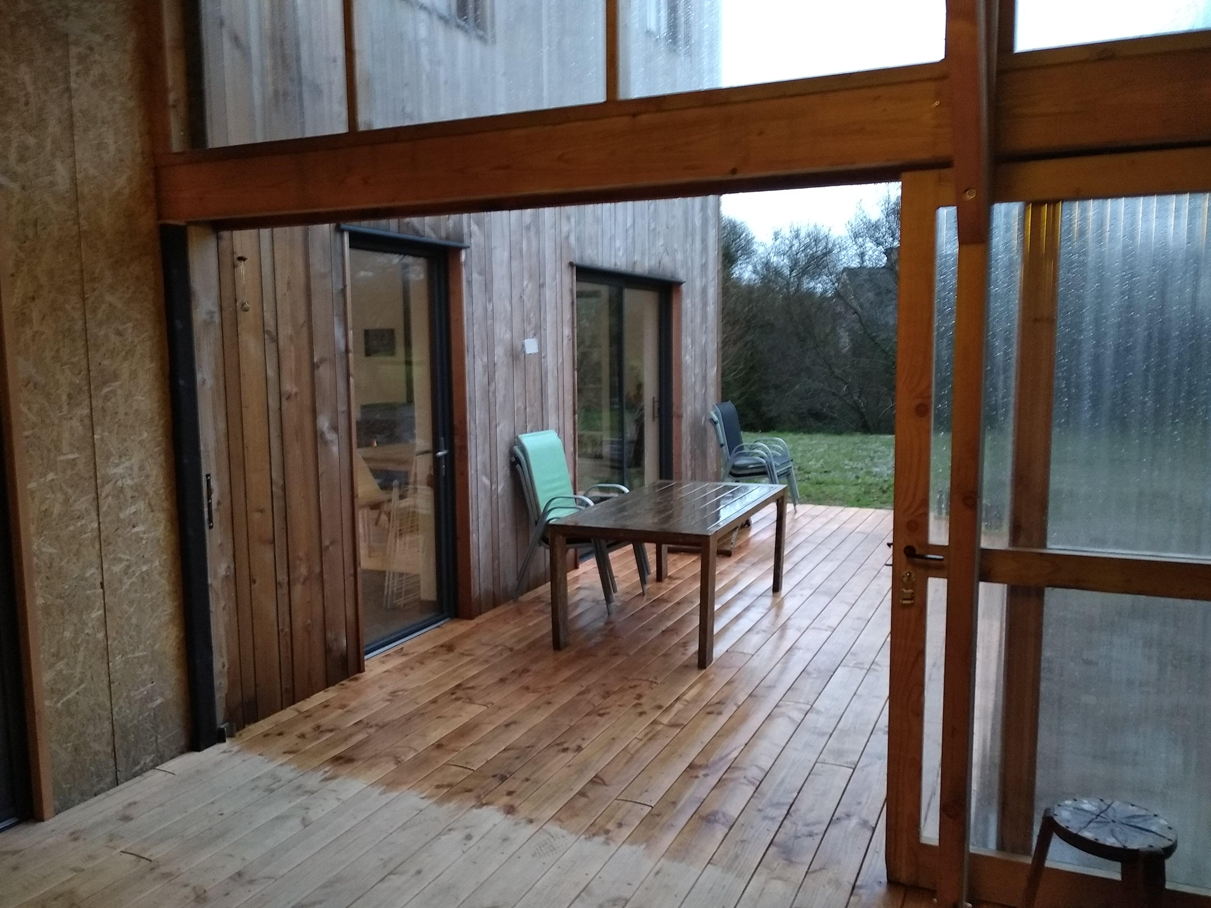 jardin d'hiver maison ossature bois - scop l'Acacia