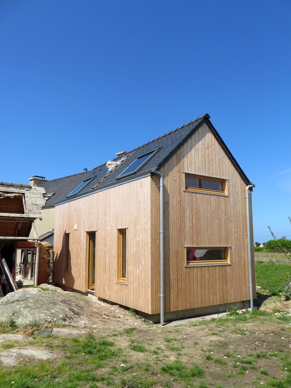 Extension bois finistere for Extension maison