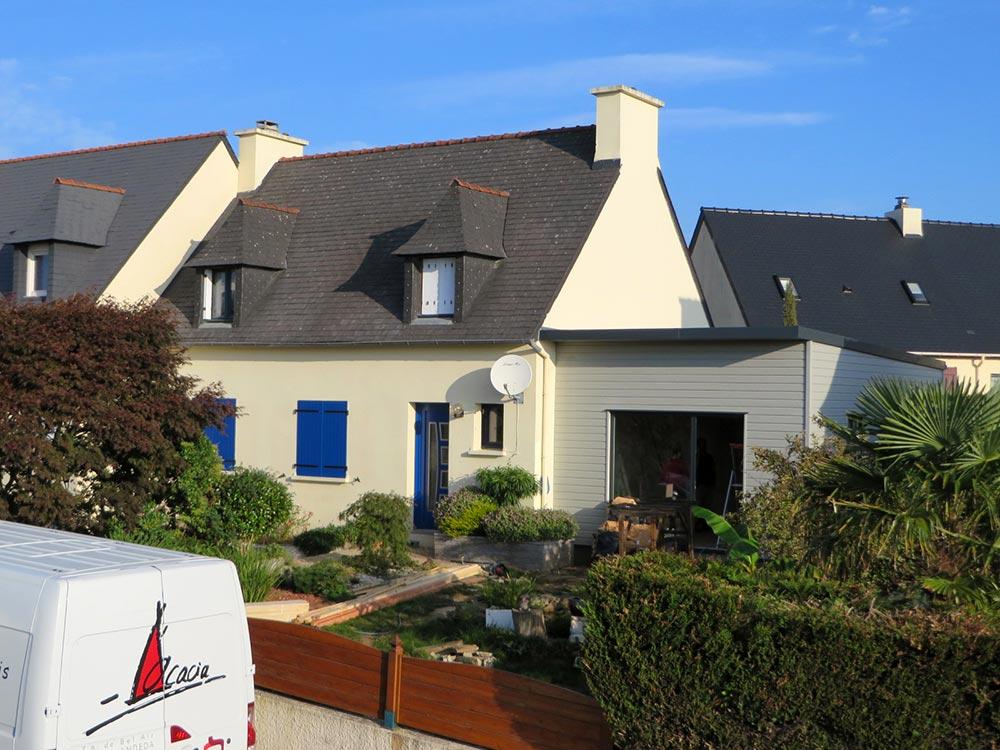 Extension bois guipavas maisons bois acacia for Extension maison bois 94