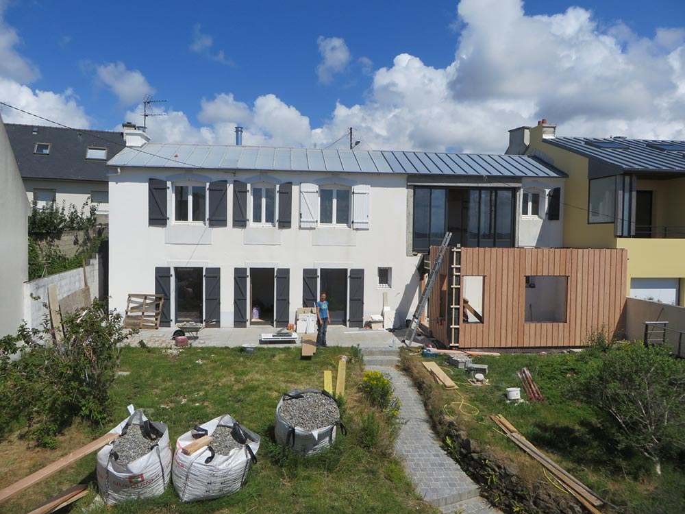 Extension bois finistere - Extension maison brest ...