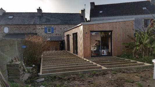 Terrasse bois Finistère structure en pin traité cl4