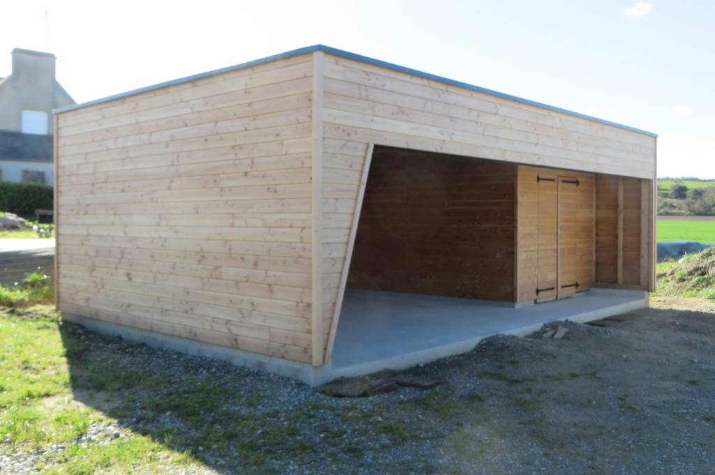 Carport bois finist re land da maisons bois acacia for Garage des communes acheres