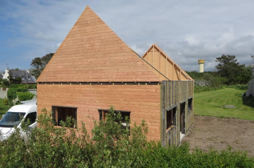 Maison bois Finistère bardage en Douglas