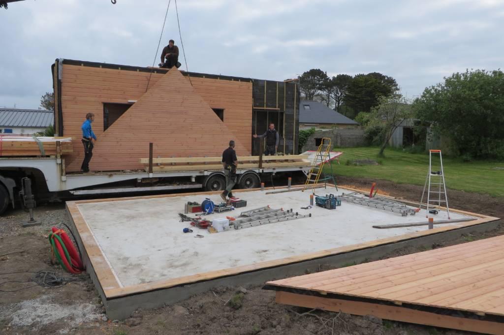 Levage maison bois finistère