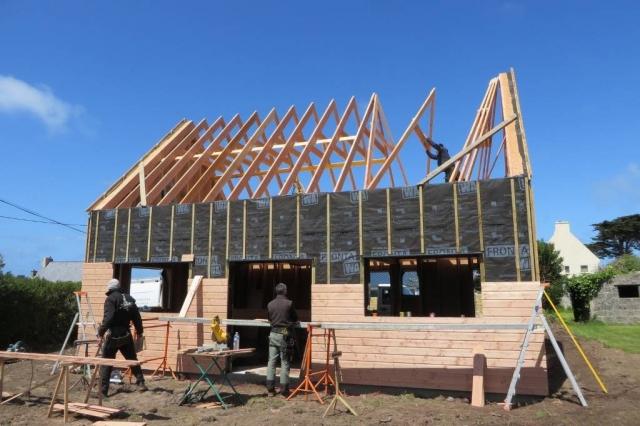 Maison bois charpente