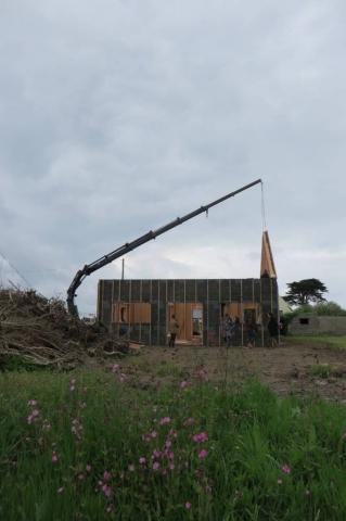 Maison bois Finistère levage