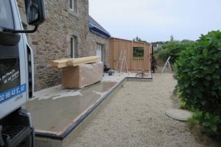 Levage extension ossature bois