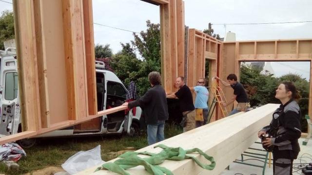 Levage maison ossature bois
