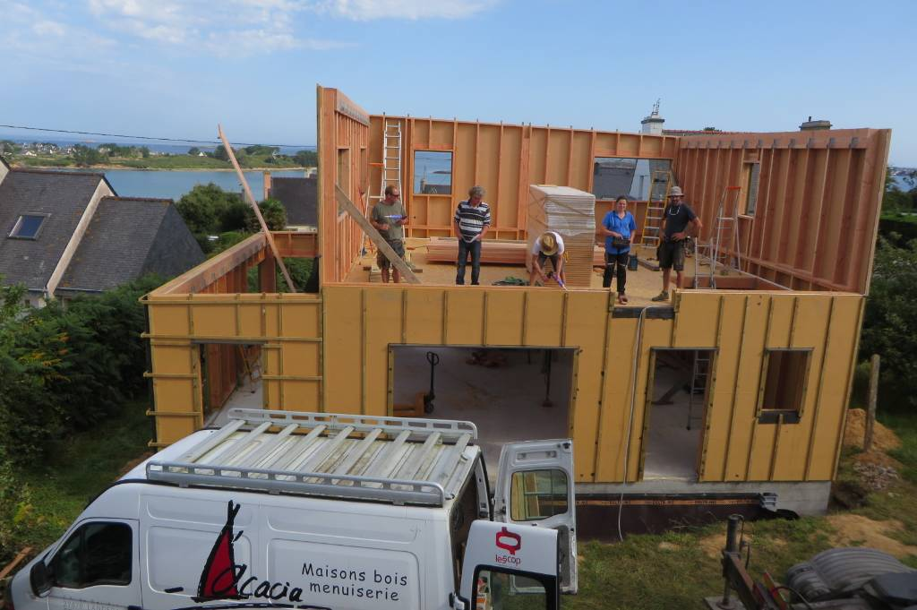 Levage étage maison bois