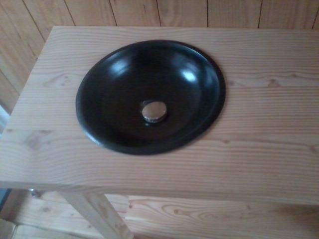 vasque en grès émaillé