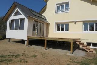 Extension, terrasse et escalier d'accés