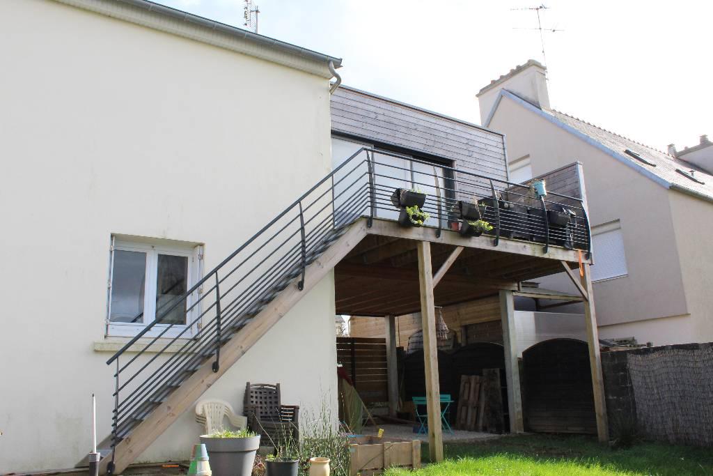 Terrasse sur pilotis bois