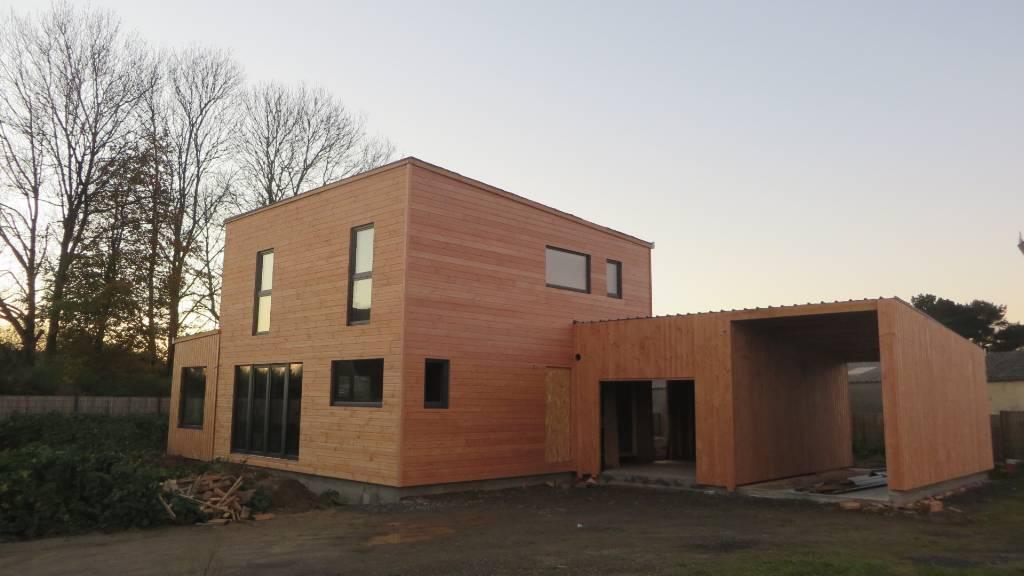 maison ossature bois le folgoet