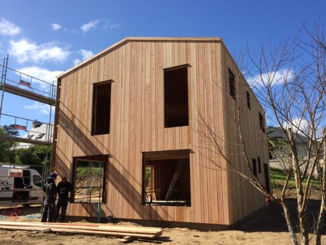 maison ossature bois douglas - scop l'acacia