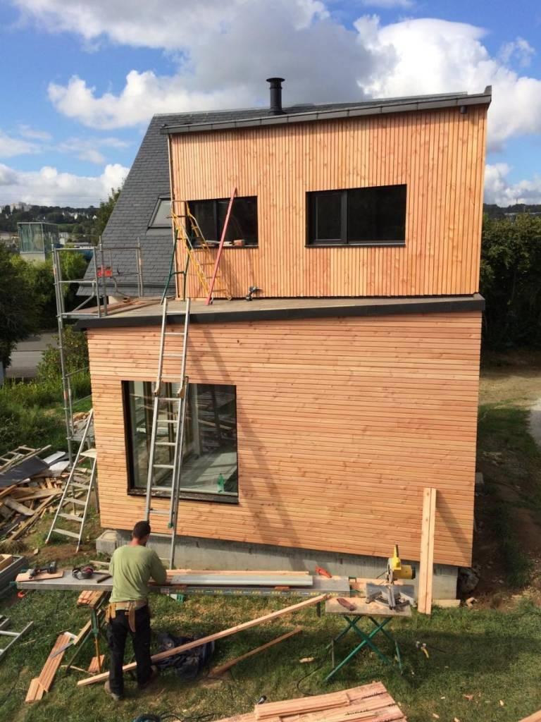 extension ossature bois landerneau - scop l'Acacia