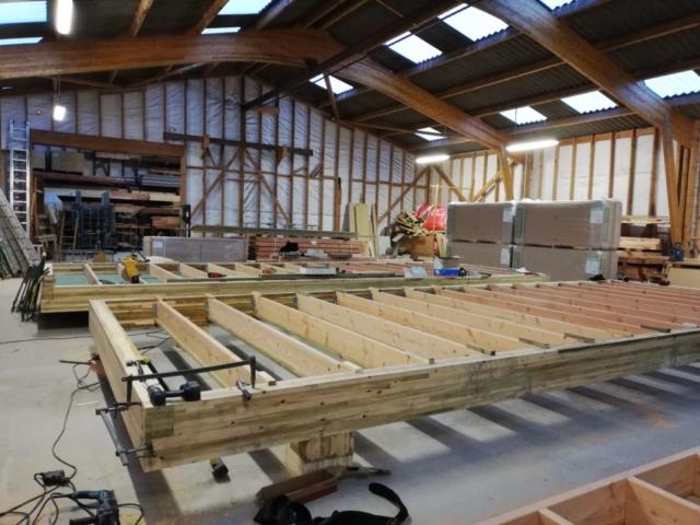 maison modulaire ossature bois - dalle bois