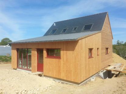 Maison bois Finistère Sud Ploneour Lanvern