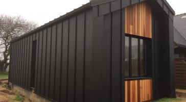 Extension bois bardage aluminium – Lannilis