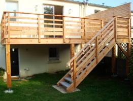 Terrasse bois sur pilotis à Brest