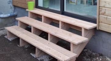 Escalier bois exterieur Finistere