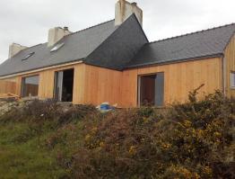 Extension ossature bois et rénovation, Finistère Sud