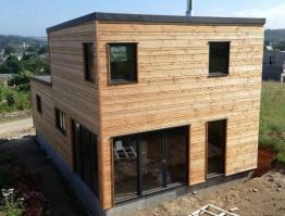 Maison bois bardage douglas ajouré – Daoulas