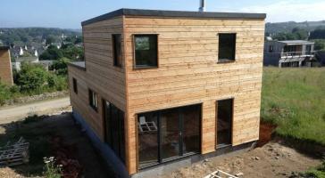 Maison bois bardage ajouré – Daoulas
