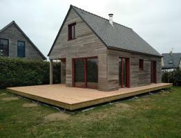 Terrasse en bois douglas Portsall