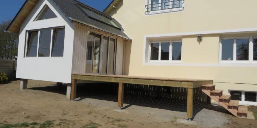 extension bois. Black Bedroom Furniture Sets. Home Design Ideas