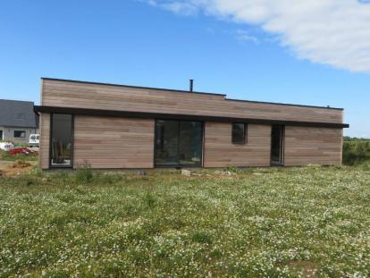 Maison ossature bois au Conquet