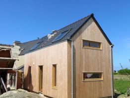 Extension bois à Plouguerneau