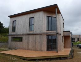 Maison bioclimatique ossature bois