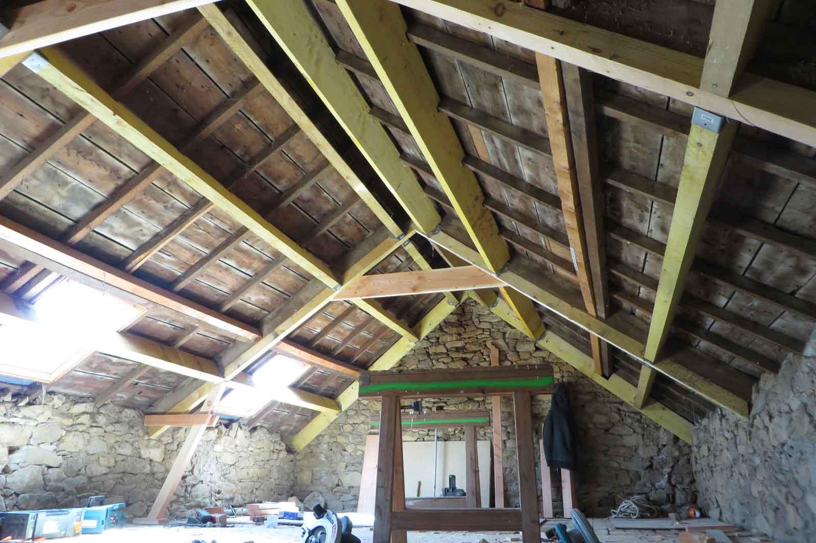 Renovation charpente plouguerneau