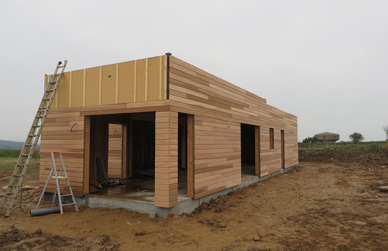 Maison bois Finistère isolation extérieure en fibre de bois