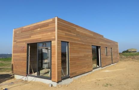 Maison bois Finistère bardage en red cedar