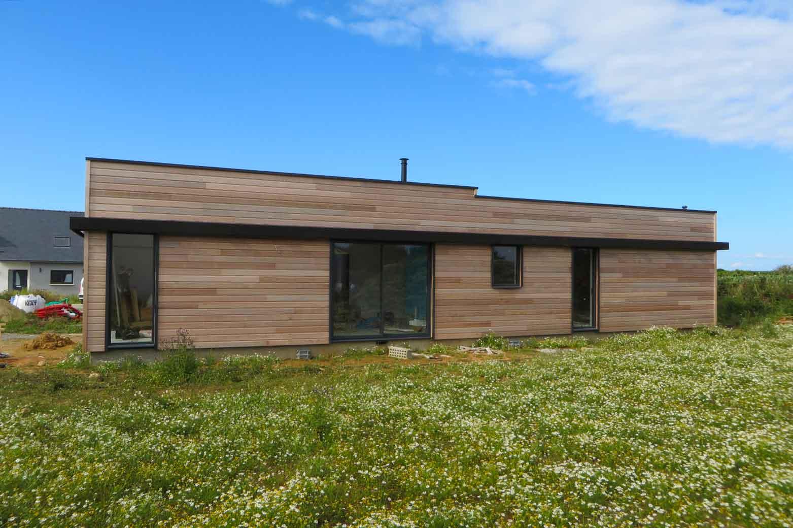 maison ossature bois au conquet maisons bois acacia. Black Bedroom Furniture Sets. Home Design Ideas