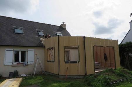 Extension bois Finistère avec isolation en fibre de bois