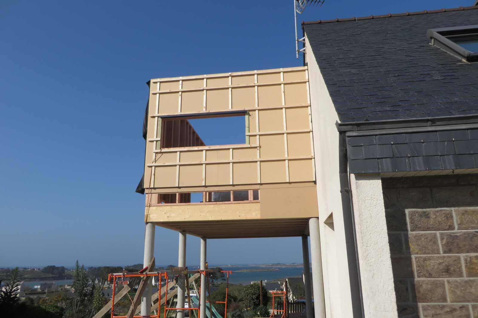 extension bois fibre isolation exterieure