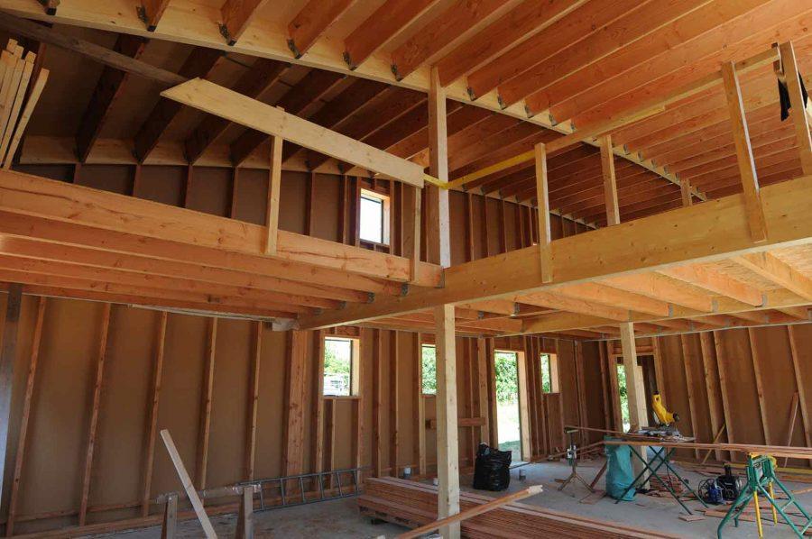 Maison bois Finisètre avant isolation