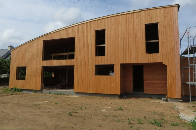 Maison bois Finistère Bardage Douglas vertical