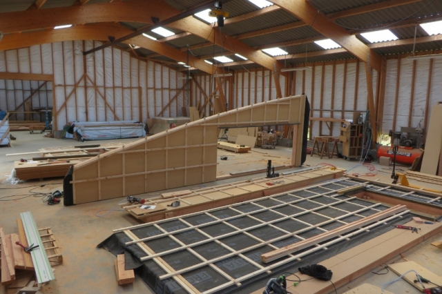 Maison bois Finistère fabrication à l'atelier