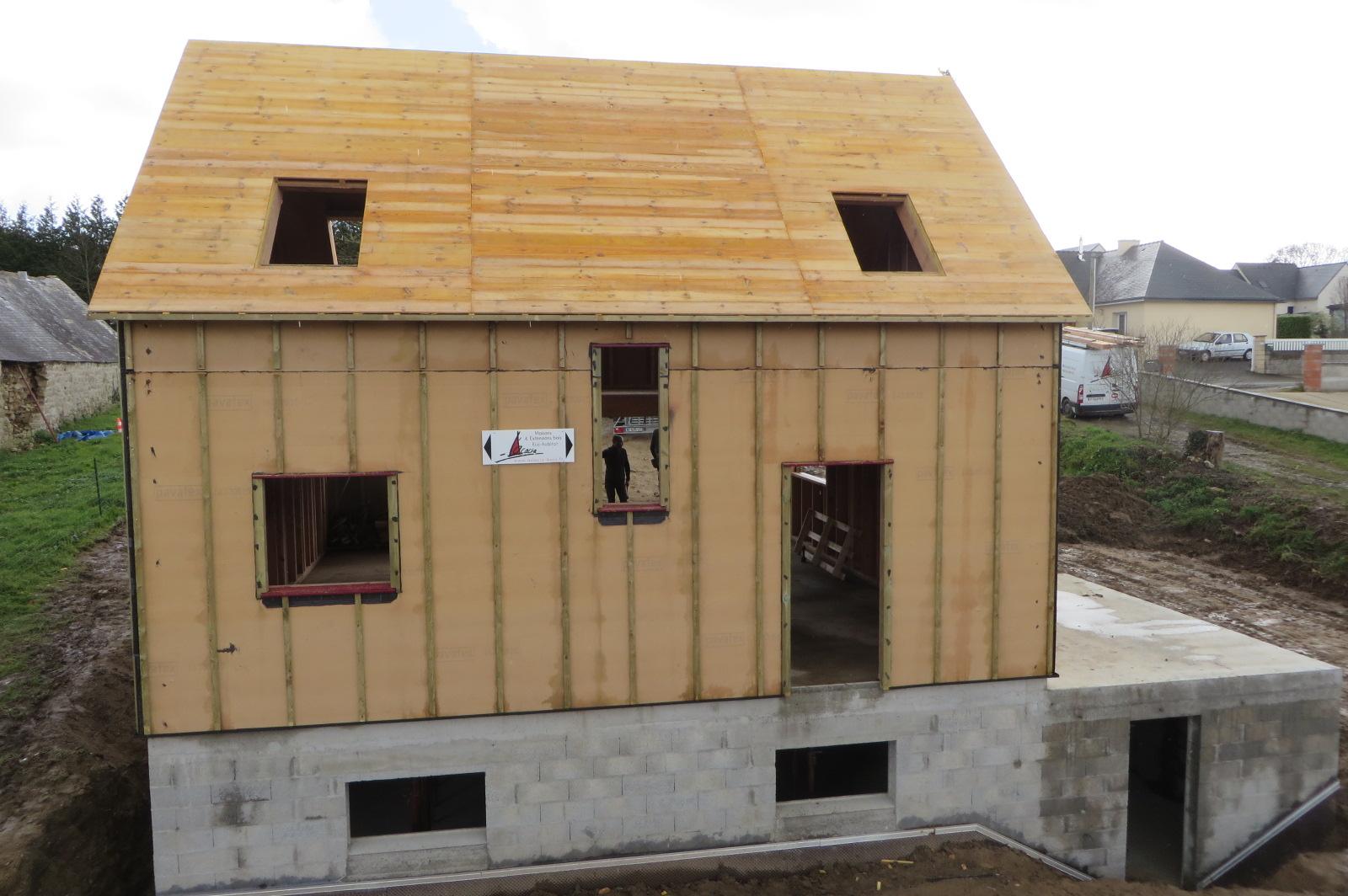 Maison bois Finistère isolation extérieure en fibre de bois 35mm
