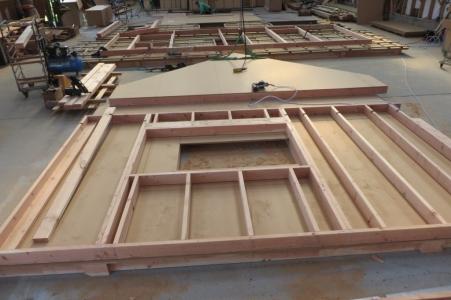Maison bois fabrication à l'atelier