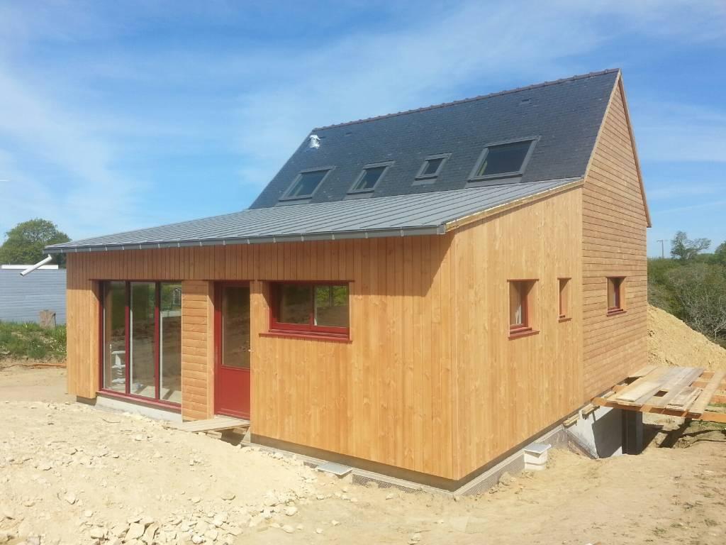 Maison bois Finistère couverture zinc et ardoise