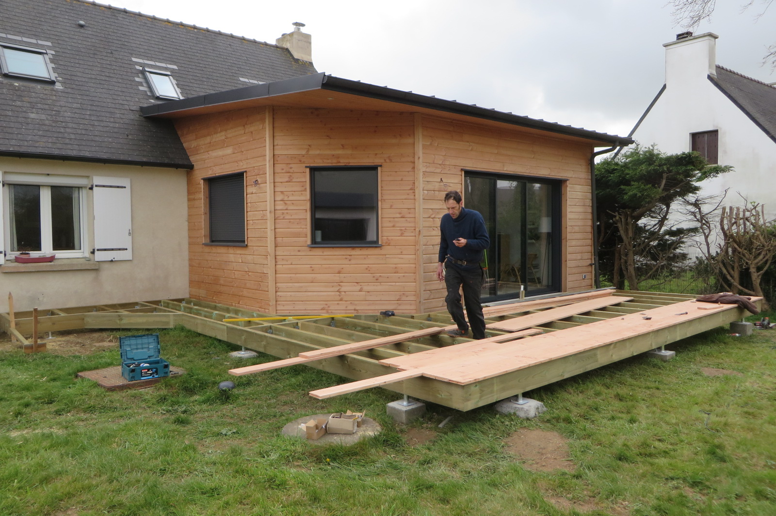 Terrasse bois Finistère structure en pin traité cl 4