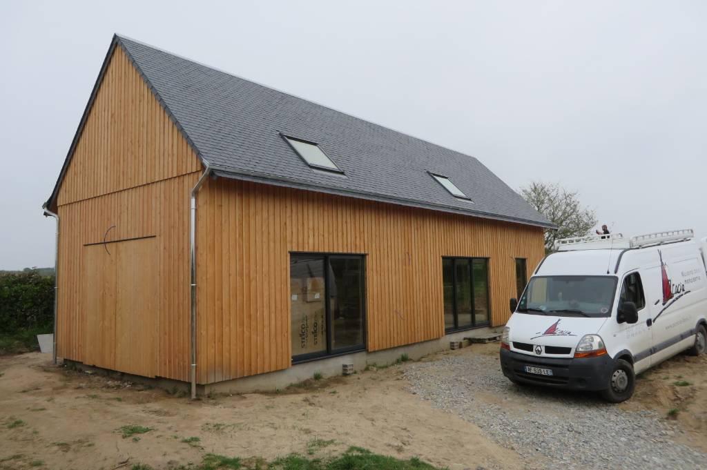 maison bois bardage couvre joint